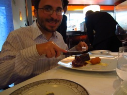 """Adam on his steak: """"It's like eating a cake make of meat."""""""