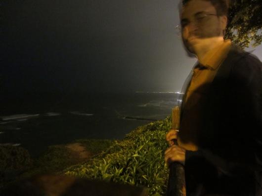 The ocean at night.